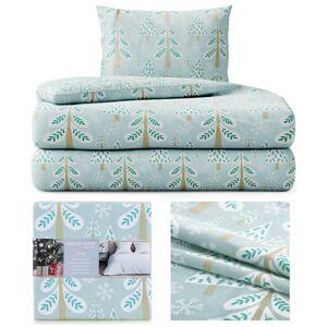 Bavlnená posteľná bielizeň Lumi modrá