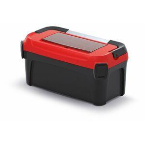 Kufr na nářadí s kovovým držadlem SMART 50x25,1x24,3 cm černo-červený