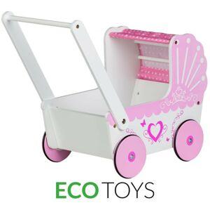 Drevený kočík pre bábiky Eco Toys