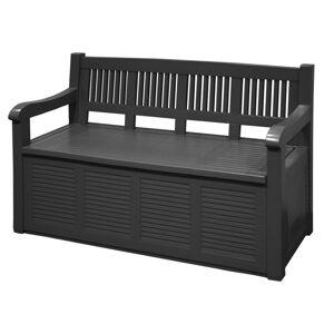 Zahradní lavice s úložným prostorem- ČERNÁ