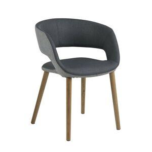 Jídelní židle Gracja grafitová/světle šedá