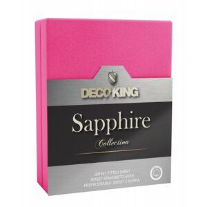 Prostěradlo z bavlny s gumou DecoKing Sapphire růžové