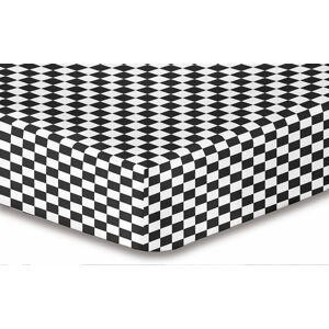 Prostěradlo z mikrovlákna DecoKing Hypnosis TRIUMPH černo-bílé