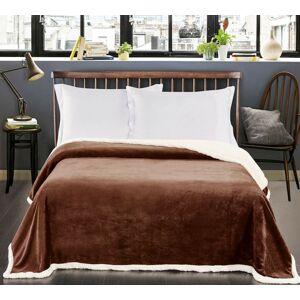 Oboustranný přehoz na postel DecoKing Teddy hnědý