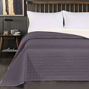 Oboustranný přehoz na postel DecoKing Salice bílý/ocelový