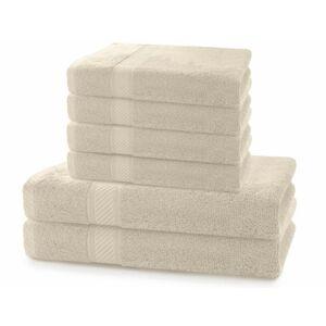 Set 2 osušek a 4 ručníků DecoKing Bella béžové