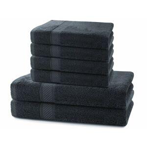 Súprava čiernych uterákov DecoKing BAMBY
