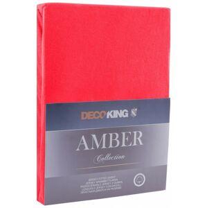 Bavlněné jersey prostěradlo s gumou DecoKing Amber červené
