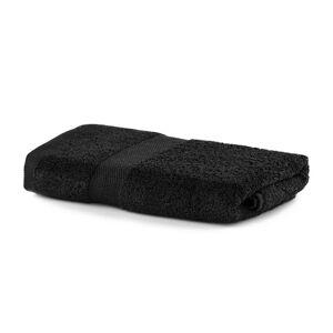 Bavlnený uterák DecoKing Mila 30 × 50 cm čierny