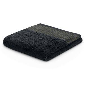 Bavlněný ručník DecoKing Andrea černý