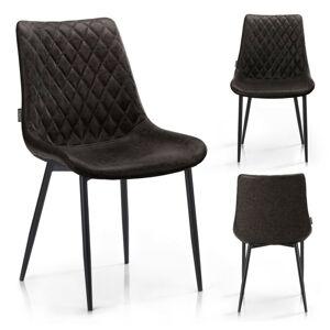 Designová stolička Sharonti tmavohnedá