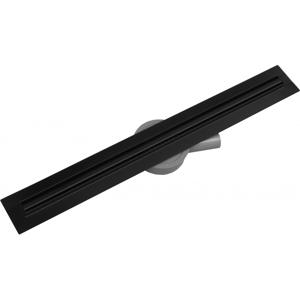 Odtokový žlab s otočným sifonem MEXEN FLAT 360 SLIM černý 110 cm