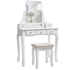 Toaletní stolek Jawie bílý
