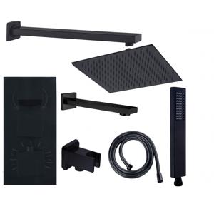 Sprchový-vanový set podomítkový CUBE 7v1 černý