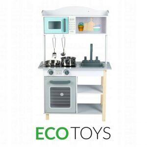Dřevěná kuchyně s příslušenstvím Eco Toys