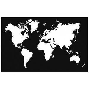 Nástěnná dekorace World Map černá