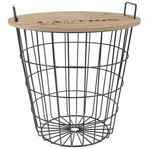 Drôtený konferenčný stôl 40 cm hnedý