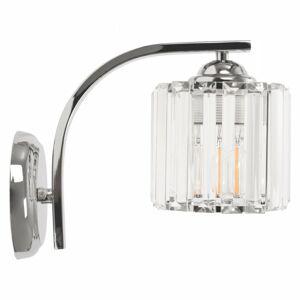 Nástěnná lampa Bodil APP509-1W chrom/krystal
