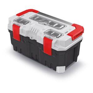 Kufr na nářadí TITANIO bílo-šedo-červený
