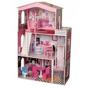 Obrovský drevený domček z výťahom pre bábiky Ecotoys