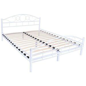Kovová postel  Arrigo  dvoulůžko 160x200 - bílé
