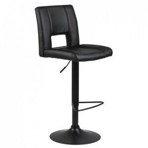 Otočná barová židle Sylvie černá