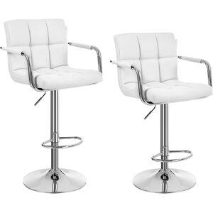 Barová stolička Mexima bílá - 2 kusy
