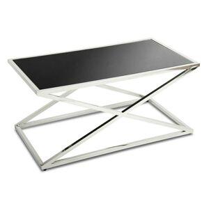 Konferenční stolek Saliba stříbrný