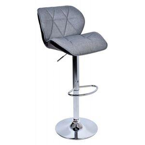 Barová stolička Hoker Rossi sivočierna