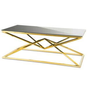 Konferenční stolek Diamanto Gold Black 2