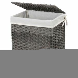 Koš na prádlo LILI 90 L šedý