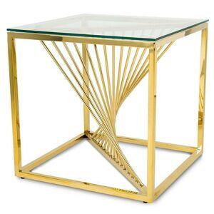 Konferenčný stolík LAINE malý zlatý