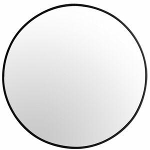 Guľaté zrkadlo Loft SLIM 60 cm čierne