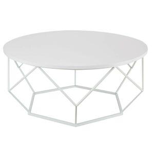 Kovový konferenční stolek Diamant 90 cm bílý