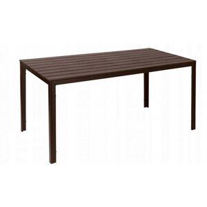 Zahradní cateringový stůl 156x78 cm hnědý