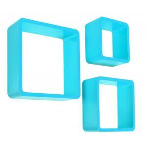 3 poličky/kostky - modré