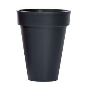 Květináč Cone Cube tmavě šedý