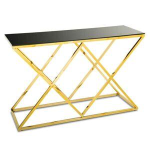Konzolový stůl Dejres černo-zlatý