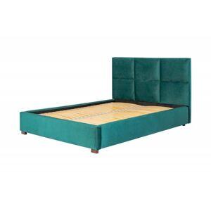 Čalouněná postel Farida 160x200 dvoulůžko - zelené