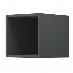 Nástěnná police Moyo 30 cm šedá