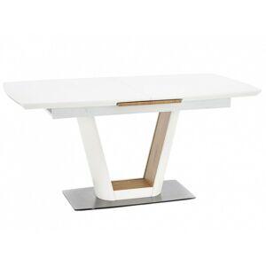Rozkládací jídelní stůl Berin 160-200x90 cm bílý