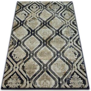 Kusový koberec DROP JASMINE 031 hmla/tmavomodrý
