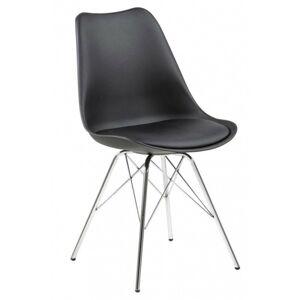 Jídelní židle Eris černá/chrom