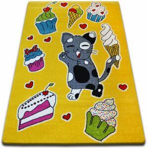 Kusový koberec KIDS torta žltý C415