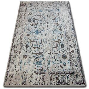 Kusový koberec AKRYLOVÝ TALAS 0309 biely/modrý