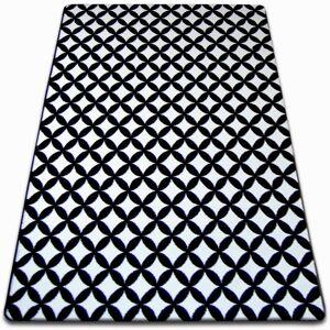 Kusový koberec SKETCH CALLUM bílý / černý - diamant