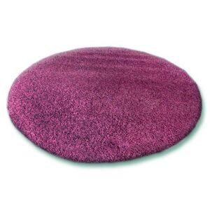 Guľatý koberec SHAGGY HIZA 5 cm fialový