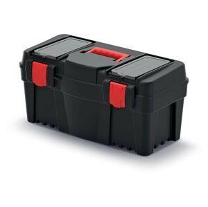 Plastový kufr na nářadí Calin 550x267x270 černo-červený