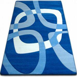 Kusový koberec FOCUS - F242 modrý čtverec čtyřúhelník