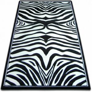 Kusový koberec FOCUS - 9032 zebra čierny/biely